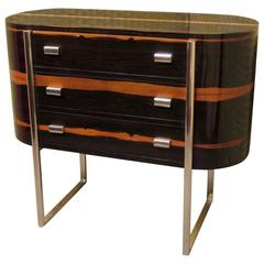 1960 Macassar Wood Italian Mid-Century Chests of Drawers