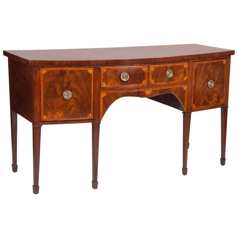 Fine George III Mahogany and Satinwood Inlaid Sideboard