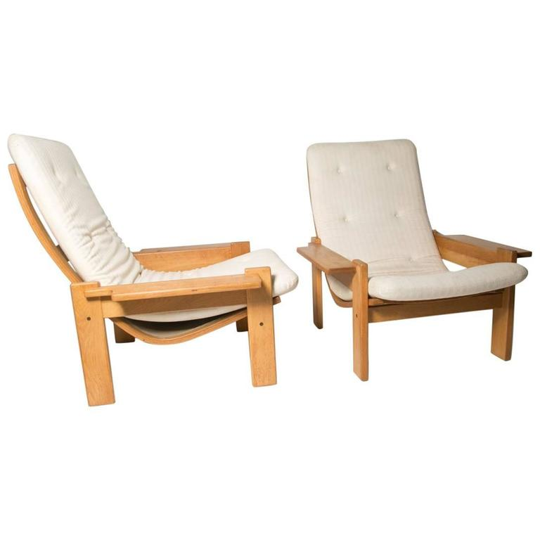 Extremely Rare Pair of Yngve Ekstrom for Swedes Møbler Super Lounge Chairs
