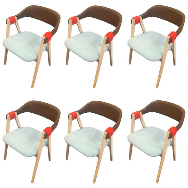 Six New Mathilda Dining Chairs by Patricia Urquiola for Moroso For
