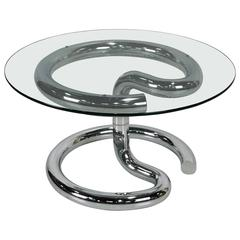 Chrome Anaconda Side Table by Paul Tuttle