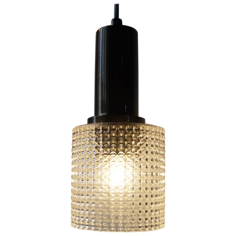 Small Mid-Century Pendant Lamp by Carl Fagerlund for Orrefors Sweden, circa 1960 For Sale