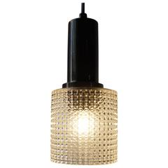 Small Mid-Century Pendant Lamp by Carl Fagerlund for Orrefors Sweden, circa 1960
