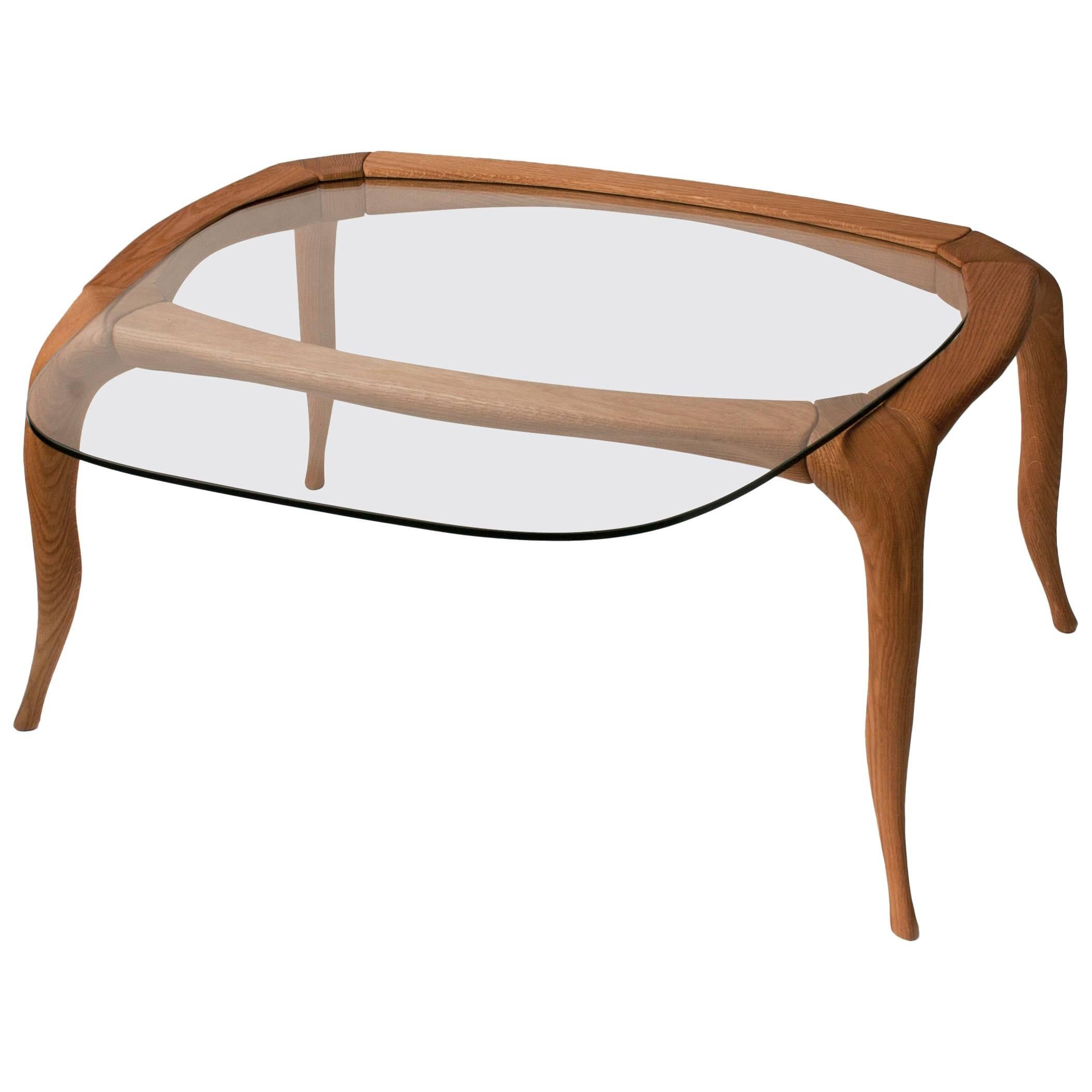Domo - occasional table in English oak, designed by Nigel Coates