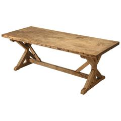 Antique French Farm Table, Unrestored