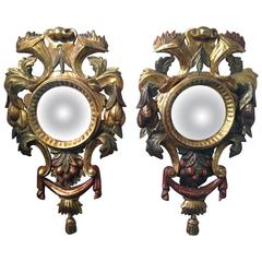 19th Century Italian Baroque Style Pair of Mirrors