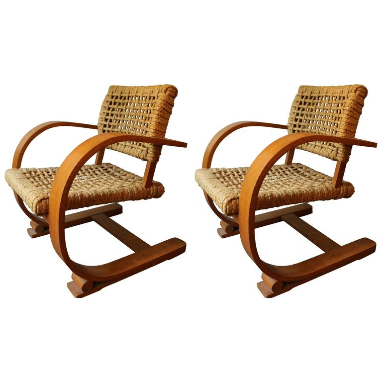 Pair Of Armchairs By Audoux Minet At 1stdibs