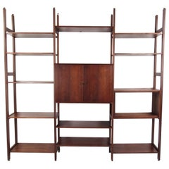 Vintage Modern Bookshelf or Wall Unit