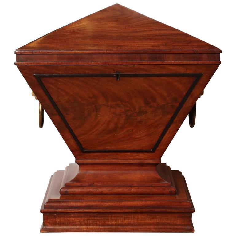 Early 19th Century English Regency, Mahogany and Brass Mounted, Cedar Lined Box