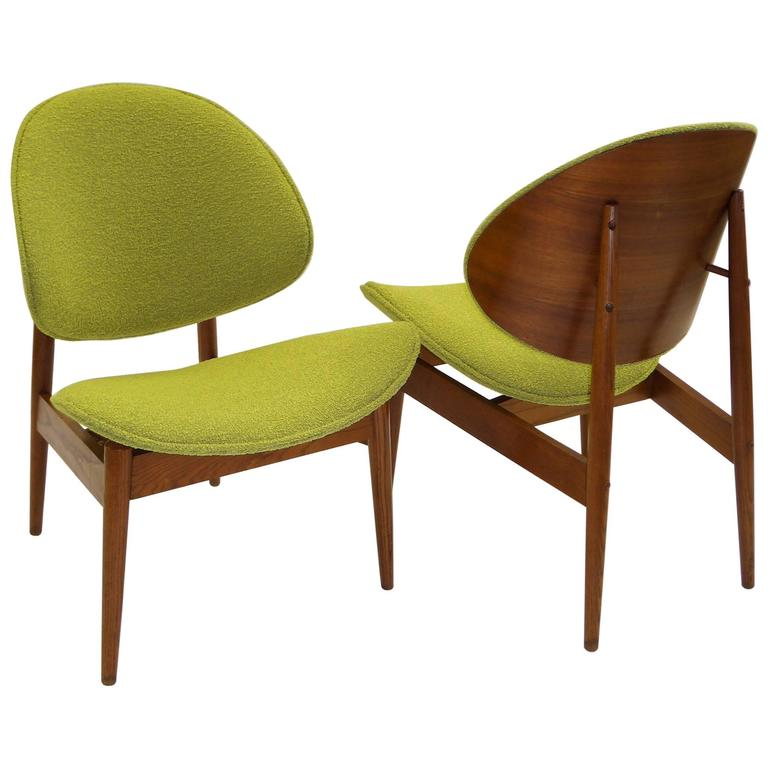 1950s Clam Shell Chairs By Seymour James Weiner For Kodawood For Sale