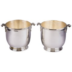 Pair of French Silver Plated Wine Coolers, circa 1880