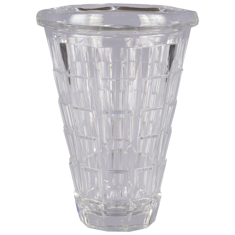 American Art Deco Glass Vase, circa 1930