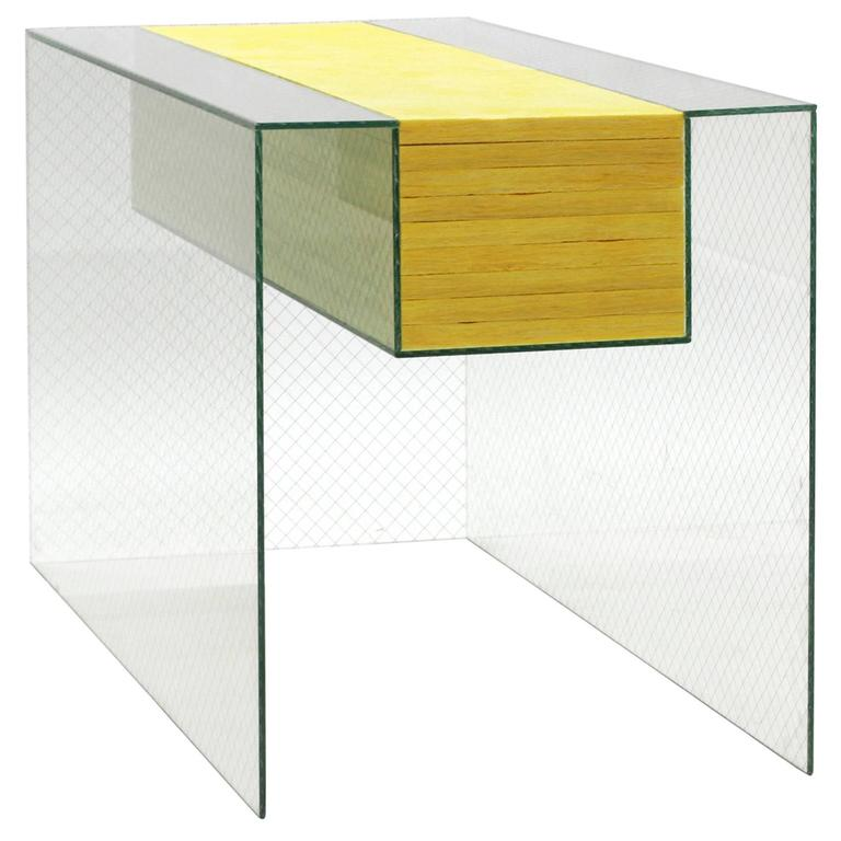 603 Vitrine Sculpture in Polished Wire Glass with Fiberglass ...