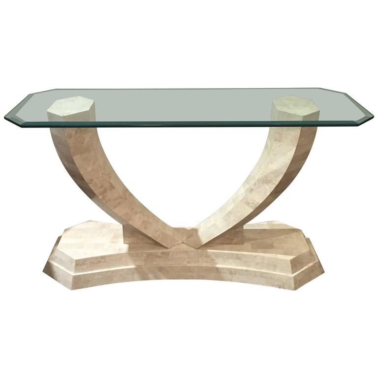 Tessellated Stone Console Table by Robert Marcius