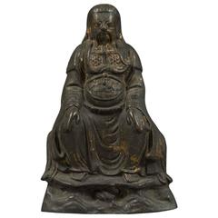 Chinese Ming Dynasty Seated Bronze Figure of an Official