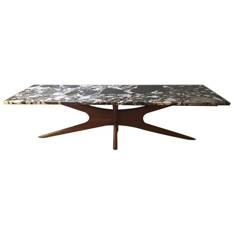 Adrian Pearsall Style Marble Coffee Table