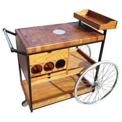 Bill W. Sanders 1964 Rolling Bar Cart or Trolley