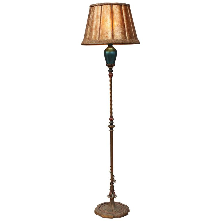 Exceptional 1920s floor lamp with steuben blow glass at for 1920 floor lamp