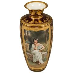 Very Finely Painted Royal Vienna Hand Painted Portrait Vase, circa 1890