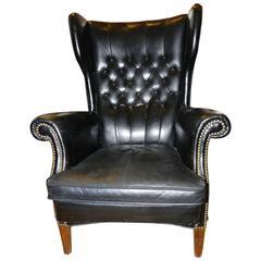Danish Mid-Century Leather Armchair