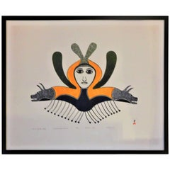 Spirit of the Wolf, Ningeeuga Oshuitoq, Cape Dorset Inuit Art, 1979