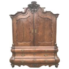 18th Century, Dutch Oak Linen Press