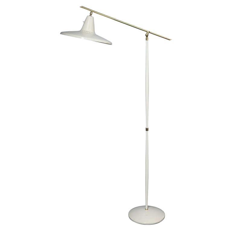 Early Guiseppe Ostuni Tall and Elegant Single Cone Floorlamp