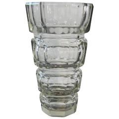 Art Deco Moser Glass Vase by Josef Hoffmann