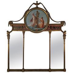 Robert Adam Style Triptych Mirror