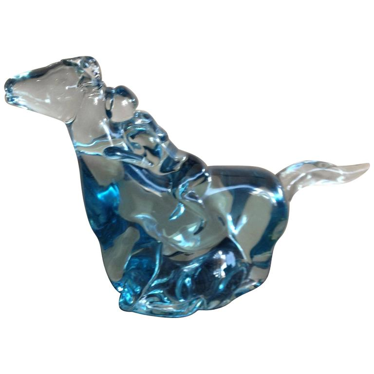 Stunning Murano Ermanno Nason Glass Horse by Gino Cenedese