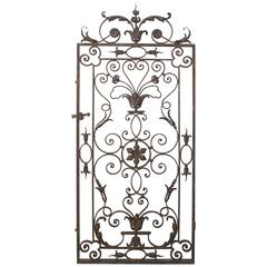 Antique Iron Gate from France, 19th Century