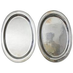 Pair of Kalo Hand-Wrought Sterling Platters