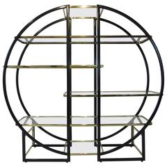 French Styled Etagere in the Manner of Pierre Cardin