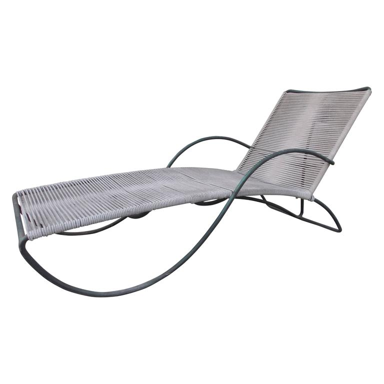 Walter lamb bronze chaise lounge at 1stdibs for Bronze chaise lounge