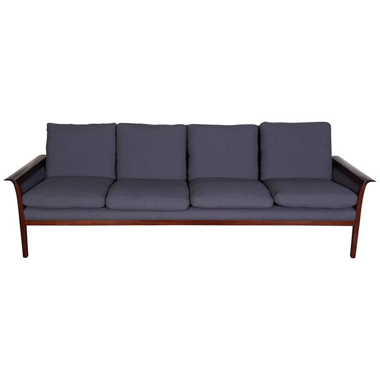 Mid Century Four-Seat Sofa by Knut Saeter  1