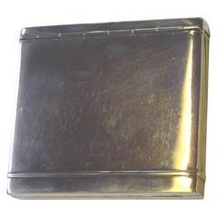 Silver Art Deco Cigarette Case