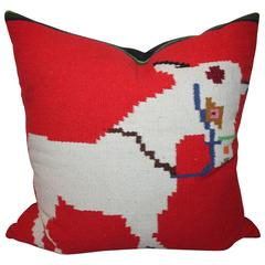 Mexican and American Indian Weaving Donkey Pillow