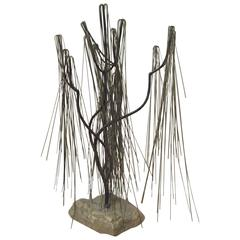 Abstract Willow Tree Welded Metal Sculpture