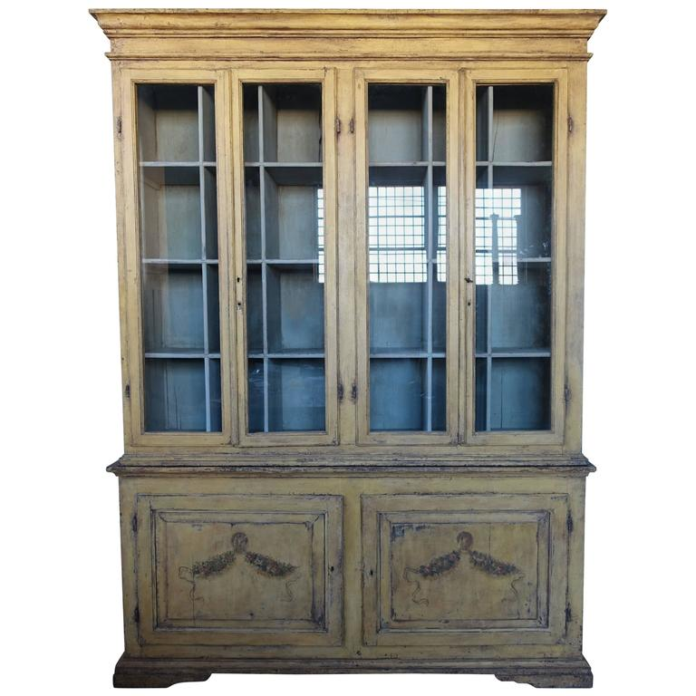 19th Century Hand Painted French Country Cabinet For Sale At 1stdibs