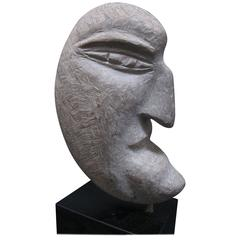 Ted Ludwiczak Crescent Shaped Stone Head