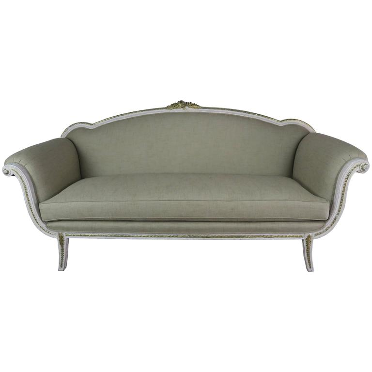 italian neoclassical style painted sofa circa 1930s for