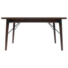 Extendable Danish Modern Teak Dining Table by Peter Hvidt