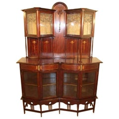GM Ellwood for JS Henry. A Fine Exhibition Quality Arts & Crafts Display Cabinet