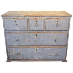 19th Century Portuguese Painted Five-Drawer Chest