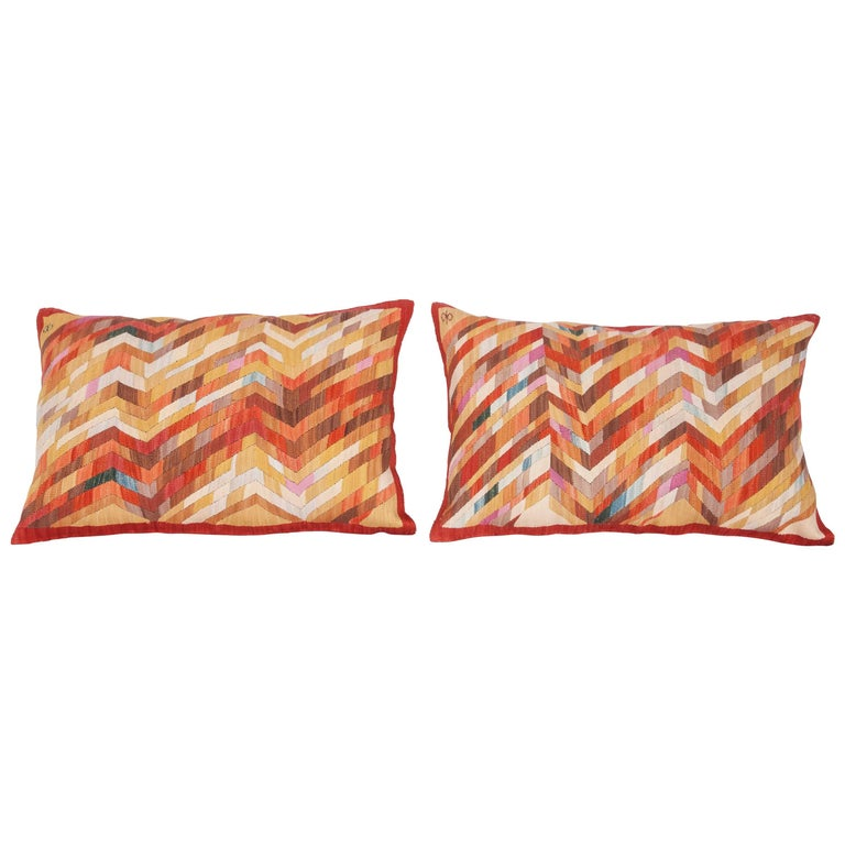 Contemporary Silk Kilim Pillows For Sale