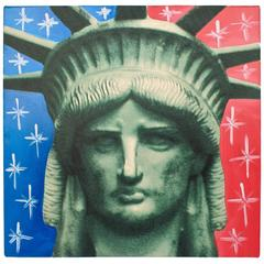 Liberty Head, an Artist's Proof Screenprint on Canvas by Sak Steve Kaufman
