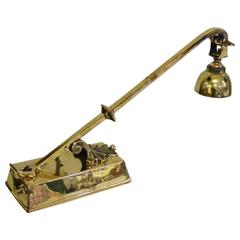 Decorative Brass Desk Light with Chord and Adjustable Head
