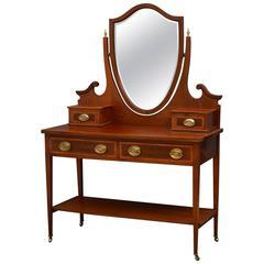 Elegant Edwardian Mahogany Dressing Table