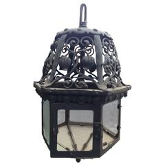 Good Arts and Crafts Hand Forged Iron Lantern