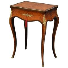 Exceptional French Amboyna Dressing Table